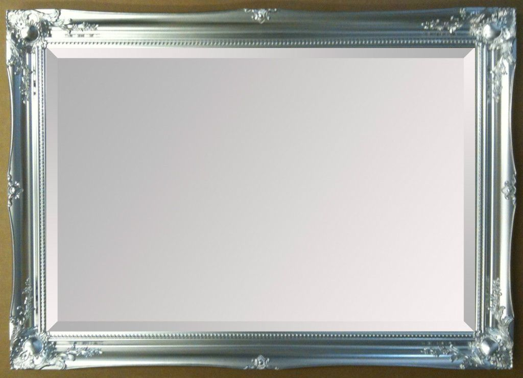 NEW Bright Silver Shabby Chic Framed Ornate Overmantle Mirror CHOOSE ...
